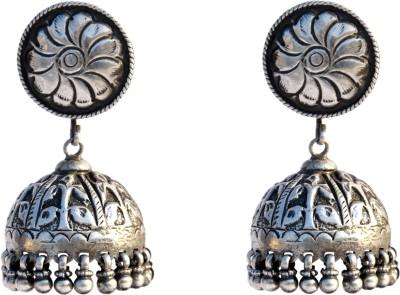 Aashirwad Oxodise Silver Jhumki Earring