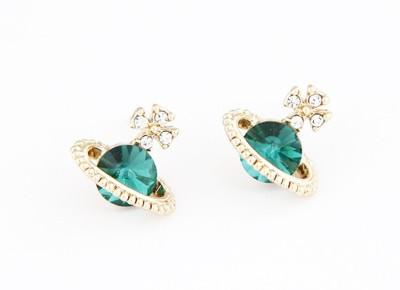 Cilver Fashion Trendy Blue Stone Alloy Stud Earring