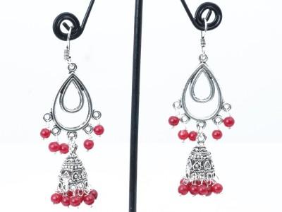 Waama Jewels charming red Metal Dangle Earring