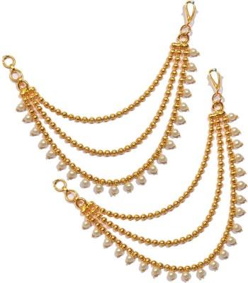 Pourni Ear Chain Kaanchain Brass Clip-on Earring at flipkart