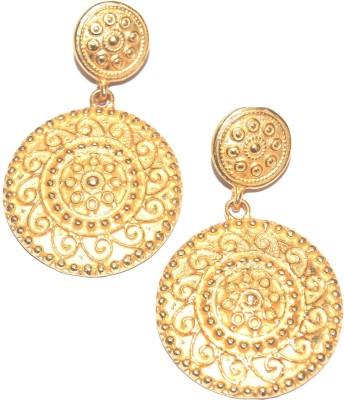 Arvino Temple Style Brass Dangle Earring