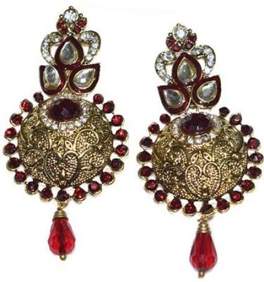 Mrinalini Kundan Alloy Chandbali Earring