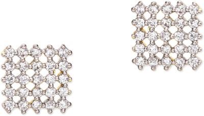 Prita Square American Diamond Alloy Stud Earring