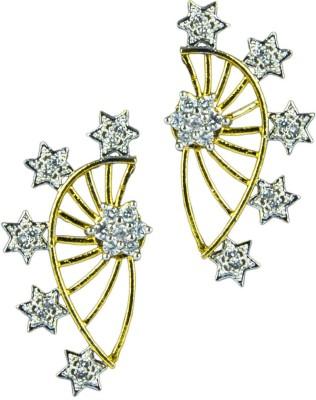 Paradise Sparkle Stud Jhumki Brass, Copper Clip-on Earring