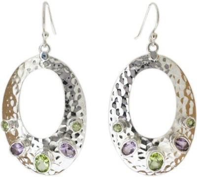 Aabhushan Aabhushajewels Amethyst, Peridot Sterling Silver Dangle Earring
