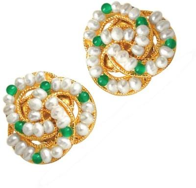 Surat Diamond Fairy Queen Pearl Metal Stud Earring