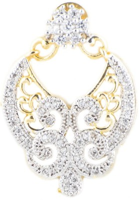 KANISH Flourish Gold Alloy Huggie Earring