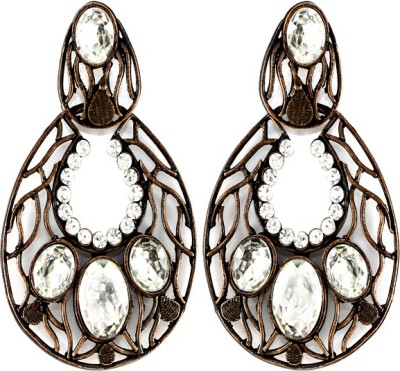 The Fine World Contemporary Design Zircon Metal Drop Earring