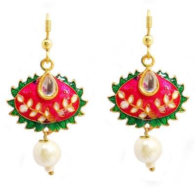 MK Jewellers DESIGNER MEENAKARI EARINGS Brass Hoop Earring