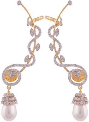 Grandiose American Diamond Ear Cuff Earrings Copper Chandelier Earring