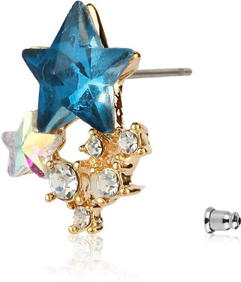 Moedbuille Fashionable And Trendy Star Shaped CZ Encrusted Alloy Stud Earring