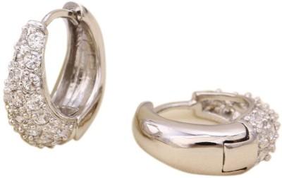 Aahna- Designer Jewellery Beautiful Cubic Zirconia Copper Hoop Earring