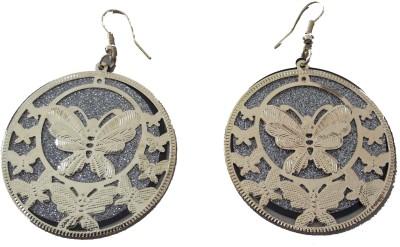 MH Butterfly Crystal Plastic Dangle Earring
