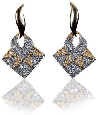 Rashi Jewellery Gold Silver Ad Stone Brass Drop Earring