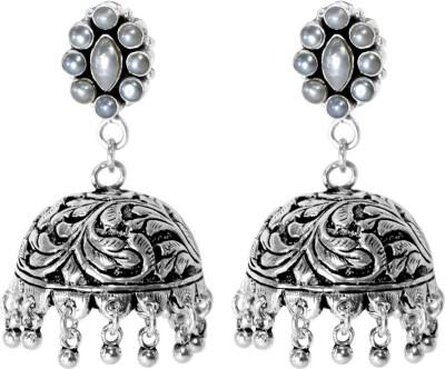 Anavaysilver Ear009 Pearl Sterling Silver Jhumki Earring