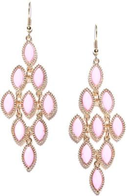 ToniQ Pink Metal Dangle Earring