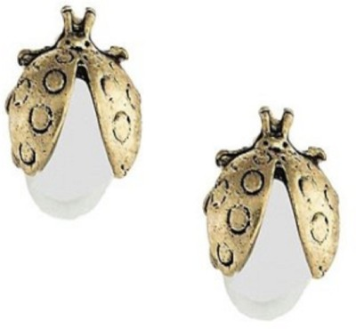 Stile Bug Pearl Alloy Stud Earring