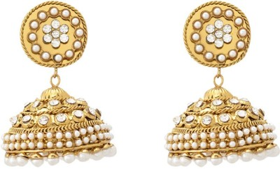 Dazzle Collections Traditional Sparkle Alloy Jhumki Earring