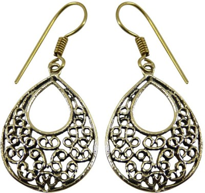Cultural Fusion Filgree Style Alloy Drop Earring