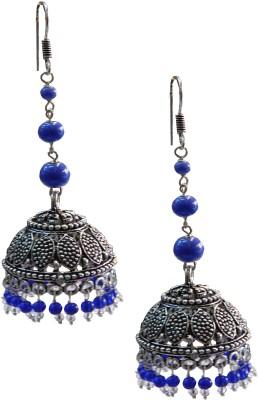 Excellent Gems Designer White Metal Jhumki Earring