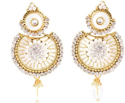 Razwada Stylish Dangle Alloy, Metal Chandbali Earring