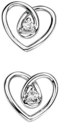 JDX Eva Swarovski Zirconia Silver Stud Earring