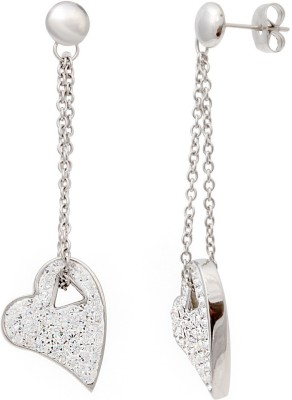 Sparkling Drop Celeistial Cubic Zirconia Stainless Steel Dangle Earring