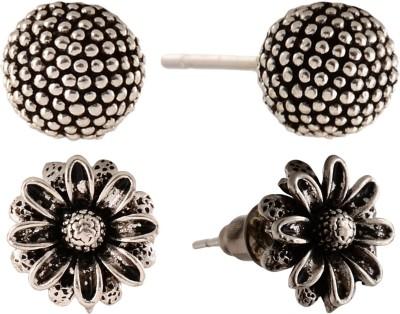 Anokhi Ada Sunflower and Dot Sphere Metal Stud Earring
