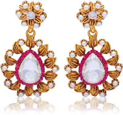 Kraft Central Shine and Sparkle Pearl Alloy Drop Earring