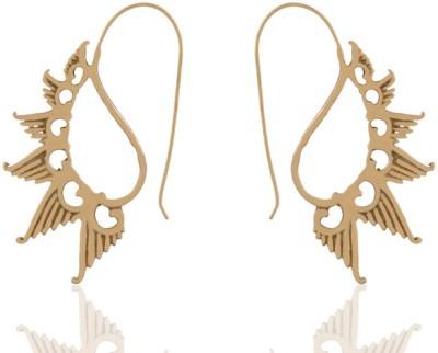 ZeroKaata Mini Gold Angel Wing Brass Dangle Earring