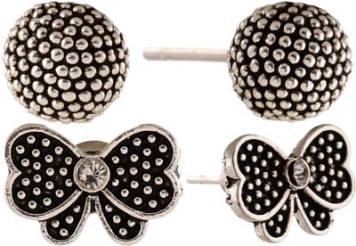 Anokhi Ada Butterfly and Dot Sphere Metal Stud Earring