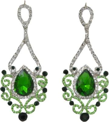 WoW Green Cubic Zircon Crystal Drop Earring