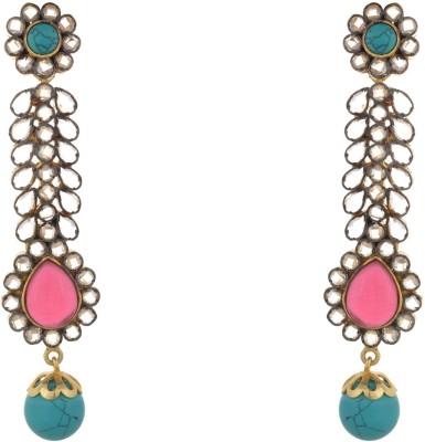 Parshwa Jewellery Long Designer Brass Drop Earring