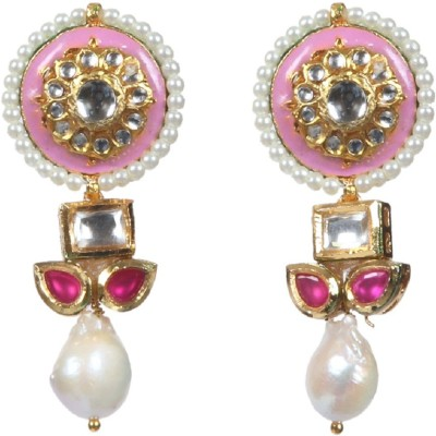 Envy Jewels Pearl Brass Drop Earring