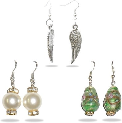 Beadworks Crystal Acrylic, Alloy, Bone, Brass, Ceramic, Glass, Lac, Metal, Resin, Shell, Stone, Wood Earring Set