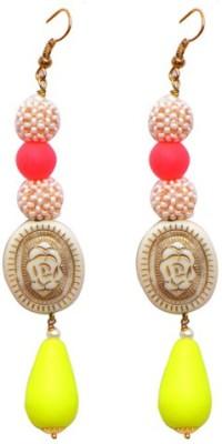 Ratnakar Neon Hoops Copper Dangle Earring