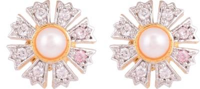 Krishna Pearls & Jewellers Princess Delight Cubic Zirconia Alloy Stud Earring