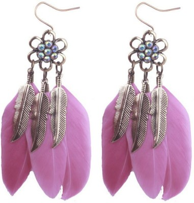 Young & Forever Vintage Feather Boho Earrings Alloy Dangle Earring