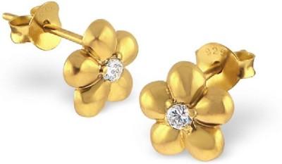 Maayin Flower Sterling Silver Stud Earring