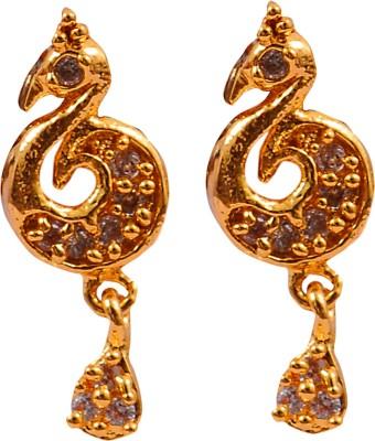 Harini Peacock Shape Alloy Drop Earring