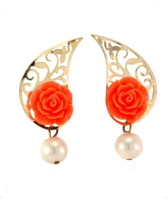 imillery imillery orange rose Alloy Drop Earring