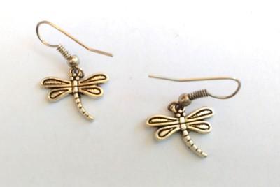 SrinidhiHandiCreations Dragon Fly Metal Dangle Earring