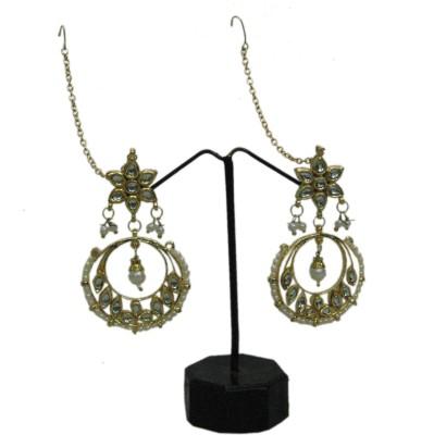 Belladonna Sparkle Gold Alloy Chandbali Earring