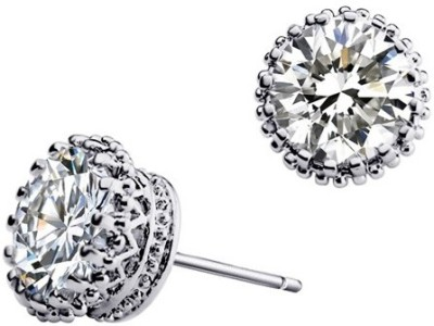 Silver Shoppee Madly In Love Crystal Metal Stud Earring