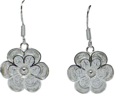 GnJ Filigree Sterling Silver Dangle Earring