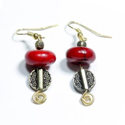 Karukala AC0003 Acrylic, Alloy Dangle Earring