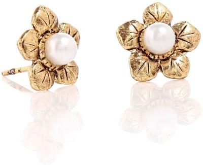 CreateAwitty INC. Golden Flower Alloy Stud Earring