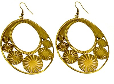 Krishna Mart A Pair Of Indian Hand Carved Traditional Hippie Earrings Brass Dangle Earring