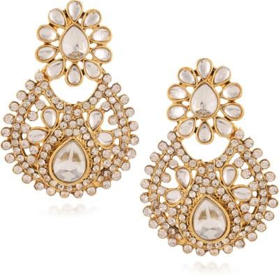Fashionaya White Snob Cubic Zirconia Alloy Drop Earring