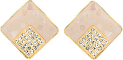 Just Women spotted diamond shaped Alloy Stud Earring
